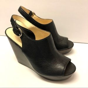 Coach Jade Black Wedges Heels Shoes Size 9